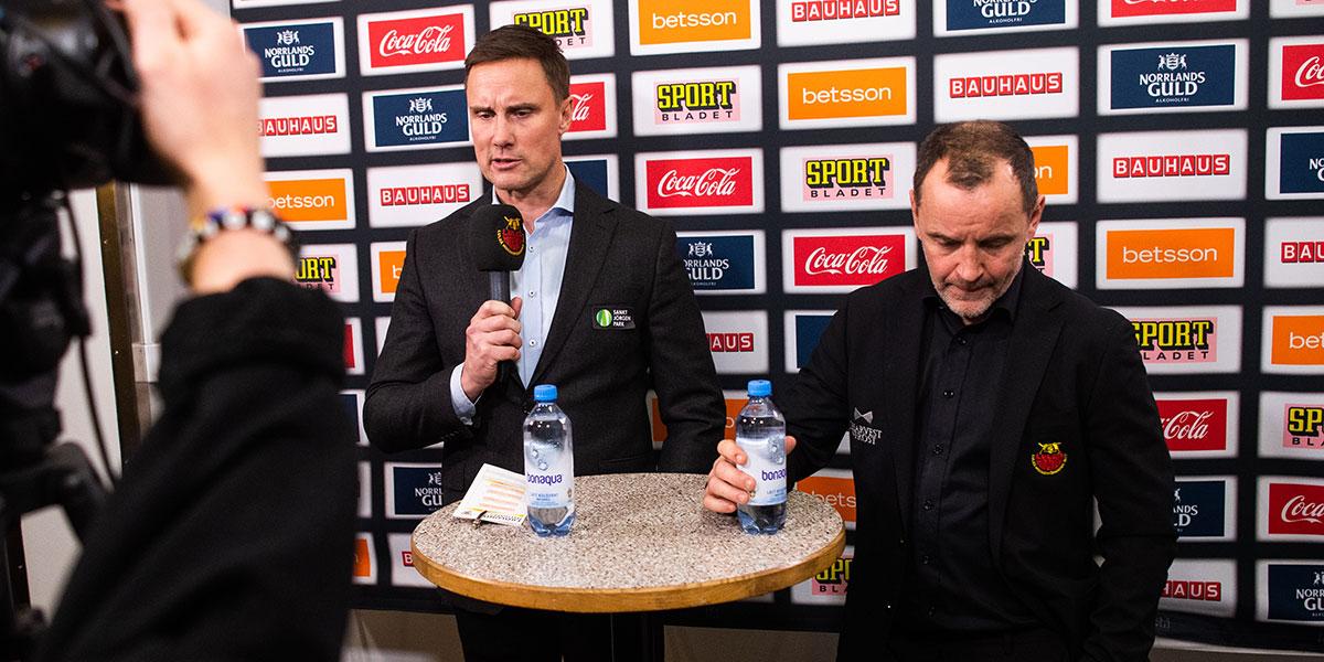 Frölundas Roger Rönnberg och Luleås Thomas Berglund