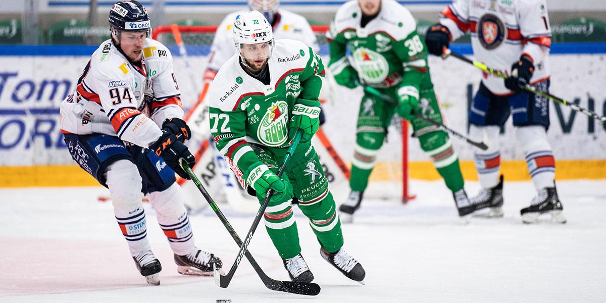 Växjös Joel Persson och Rögles Daniel Zaar